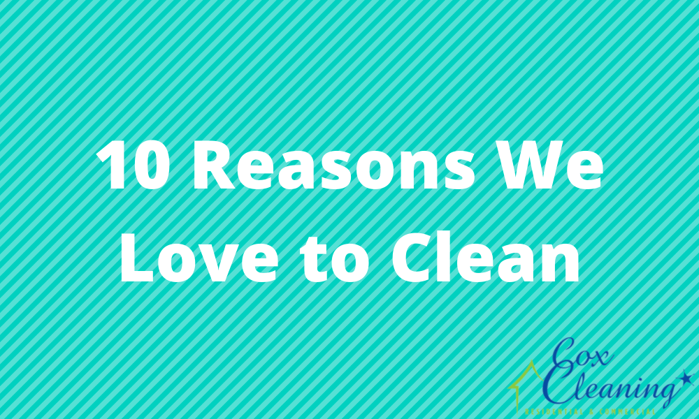 10 Reasons We Love to Clean
