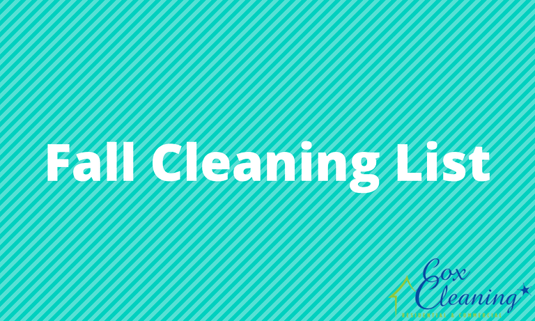 Read more about the article Fall Cleaning List